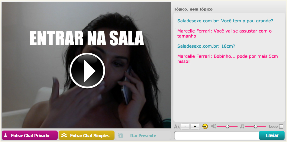 Boneca Marcelle Ferrari na Webcam